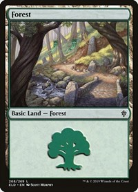 Forest (268), Magic: The Gathering, Throne of Eldraine