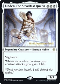 Linden, the Steadfast Queen, Magic: The Gathering, Prerelease Cards