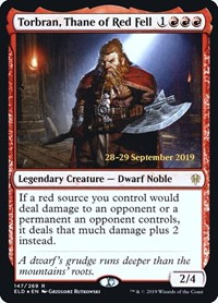 Torbran, Thane of Red Fell, Magic: The Gathering, Prerelease Cards