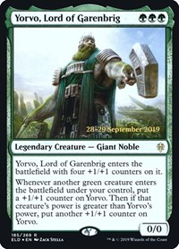 Yorvo, Lord of Garenbrig, Magic: The Gathering, Prerelease Cards