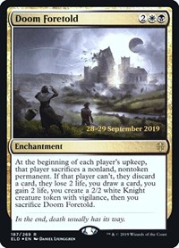 Doom Foretold, Magic: The Gathering, Prerelease Cards
