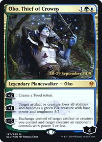 Oko, Thief of Crowns, Magic: The Gathering, Prerelease Cards
