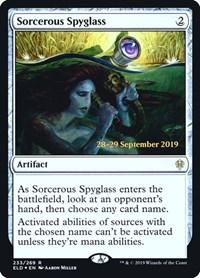 Sorcerous Spyglass (ELD), Magic: The Gathering, Prerelease Cards
