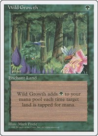Wild Growth, Magic: The Gathering, Fourth Edition