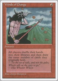 Winds of Change, Magic: The Gathering, Fourth Edition