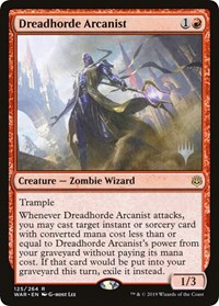 Dreadhorde Arcanist, Magic, Promo Pack: Throne of Eldraine