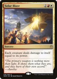 Solar Blaze, Magic: The Gathering, Promo Pack: Throne of Eldraine