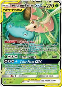 Venusaur & Snivy GX, Pokemon, SM - Cosmic Eclipse