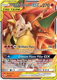 Charizard & Braixen GX, Pokemon, SM - Cosmic Eclipse
