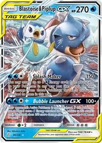 Blastoise & Piplup GX, Pokemon, SM - Cosmic Eclipse