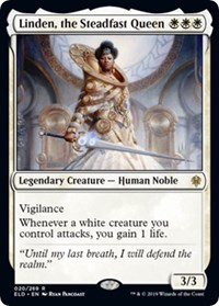 Linden, the Steadfast Queen, Magic: The Gathering, Promo Pack: Throne of Eldraine