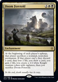 Doom Foretold, Magic: The Gathering, Promo Pack: Throne of Eldraine