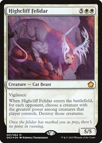 Highcliff Felidar, Magic: The Gathering, Magic Game Night 2019