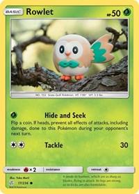 Rowlet - 17/236, Pokemon, SM - Cosmic Eclipse