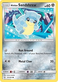 Alolan Sandshrew, Pokemon, SM - Cosmic Eclipse