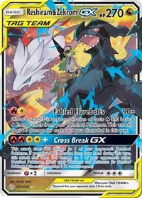 Reshiram & Zekrom GX, Pokemon, SM - Cosmic Eclipse