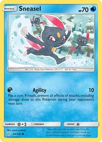 Sneasel, Pokemon, SM - Cosmic Eclipse