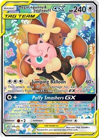 Mega Lopunny & Jigglypuff GX (Alternate Art), Pokemon, SM - Cosmic Eclipse