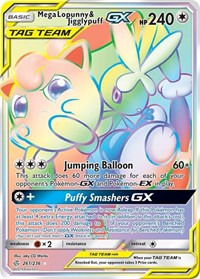 Mega Lopunny & Jigglypuff GX (Secret), Pokemon, SM - Cosmic Eclipse