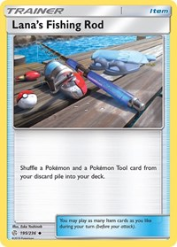 Lana's Fishing Rod, Pokemon, SM - Cosmic Eclipse