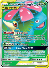 Venusaur & Snivy GX (Full Art), Pokemon, SM - Cosmic Eclipse
