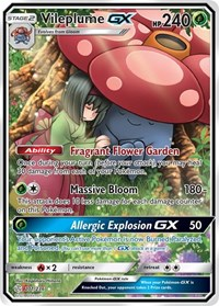 Vileplume GX (Full Art), Pokemon, SM - Cosmic Eclipse