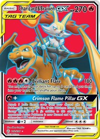 Charizard & Braixen GX (Full Art), Pokemon, SM - Cosmic Eclipse