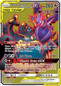 Naganadel & Guzzlord GX (Full Art), Pokemon, SM - Cosmic Eclipse