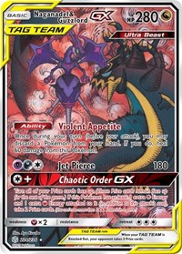 Naganadel & Guzzlord GX (Alternate Art), Pokemon, SM - Cosmic Eclipse