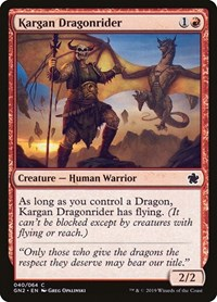 Kargan Dragonrider, Magic: The Gathering, Magic Game Night 2019