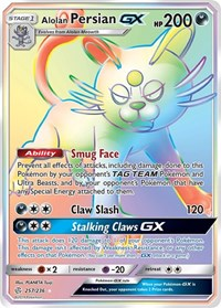Alolan Persian GX (Secret), Pokemon, SM - Cosmic Eclipse