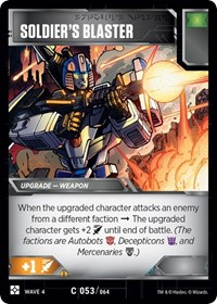 Soldier's Blaster, Transformers TCG, War for Cybertron: Siege II