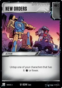 New Orders, Transformers TCG, War for Cybertron: Siege II