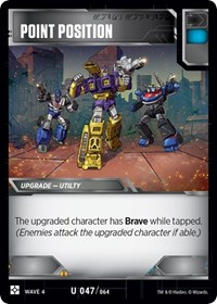 Point Position, Transformers TCG, War for Cybertron: Siege II