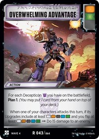 Overwhelming Advantage, Transformers TCG, War for Cybertron: Siege II