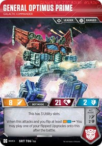 General Optimus Prime - Galactic Commander, Transformers TCG, War for Cybertron: Siege II