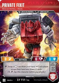 Private Fixit - Rescue Patrol Medic, Transformers TCG, War for Cybertron: Siege II