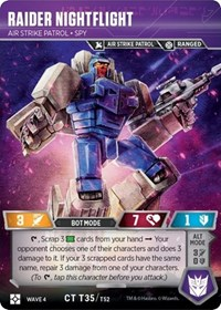 Raider Nightflight - Air Strike Patrol Spy, Transformers TCG, War for Cybertron: Siege II
