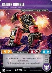 Raider Rumble - Spy Patrol Demolitions, Transformers TCG, War for Cybertron: Siege II