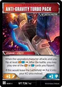 Private Turbo Board - Air Command Evac, Transformers TCG, War for Cybertron: Siege II