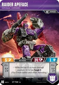 Raider Apeface - Espionage Commando, Transformers TCG, War for Cybertron: Siege II