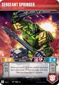 Sergeant Springer - Special Ops Aerial Defense, Transformers TCG, War for Cybertron: Siege II