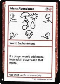 Mana Abundance, Magic: The Gathering, Mystery Booster: Convention Edition Exclusives