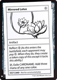 Mirrored Lotus, Magic: The Gathering, Mystery Booster: Convention Edition Exclusives