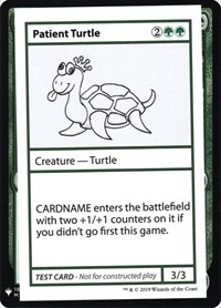 Patient Turtle, Magic: The Gathering, Mystery Booster: Convention Edition Exclusives