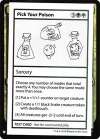 Pick Your Poison, Magic: The Gathering, Mystery Booster: Convention Edition Exclusives