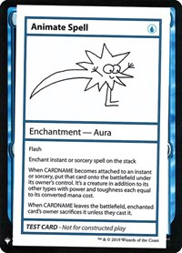 Animate Spell, Magic: The Gathering, Mystery Booster: Convention Edition Exclusives