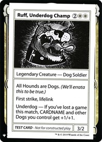 Ruff, Underdog Champ, Magic: The Gathering, Mystery Booster: Convention Edition Exclusives