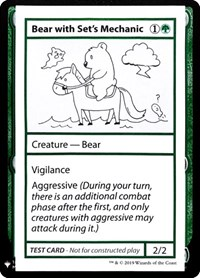 Bear with Set's Mechanic, Magic: The Gathering, Mystery Booster: Convention Edition Exclusives