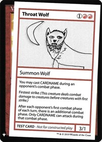 Throat Wolf, Magic: The Gathering, Mystery Booster: Convention Edition Exclusives